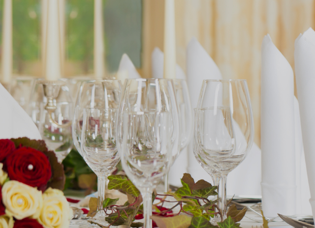french village wedding catering